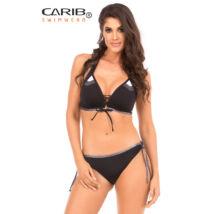 Carib Swimwear 20 fekete trikolor - push up háromszög