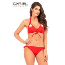 Carib Swimwear 20 piros trikolor - push up háromszög