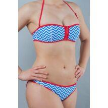J. Press neoprén cikk-cakk bikini - cipzáras