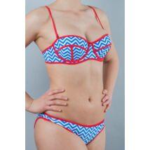 J. Press neoprén cikk-cakk bikini - bandeau