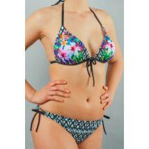 Kiwi fekete-fehér Tropic bikini - háromszög
