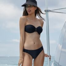 Ysabel Mora California Dreams bandeau bikini - fekete