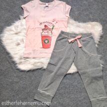 Mania pizsama Catpuccino - rózsaszín