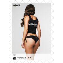 Origami Bikini 21 braziltanga bikinialsó - fekete