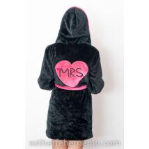 Pinki köntös - Mrs fekete-pink