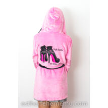 Pinki köntös - Stiletto- rózsaszín-fekete