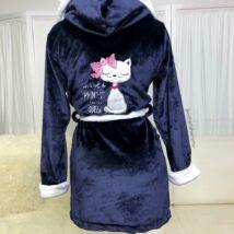Pinki köntös - Princess cica - sötétkék-fehér