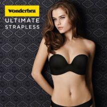 Wonderbra Ultimate Strapless melltartó - fekete