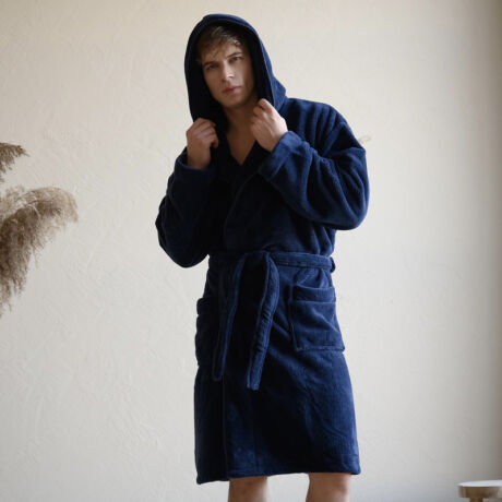Belmanetti férfi wellsoft köntös - Dark Blue