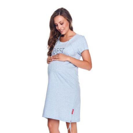 Doctor Nap Best Mom kismama hálóing - kék