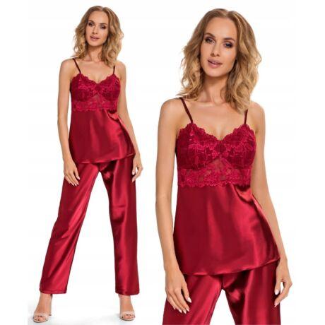 Donna Venus szatén pizsama - bordó