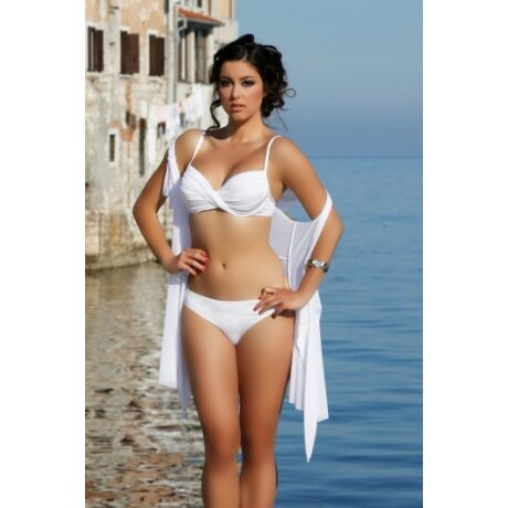 Maria Bartos strasszos bikini - fehér