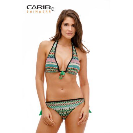 Carib Swimwear 19 türkiz pávás bikini - vékony szivacsos háromszög