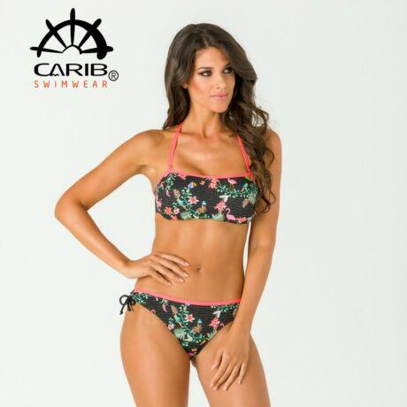 Carib Swimwear 21 csíkbikini - lurex flamingó