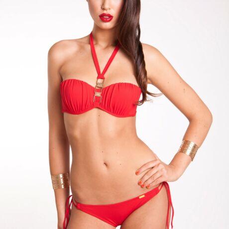 Paloma középpántos bikini - piros