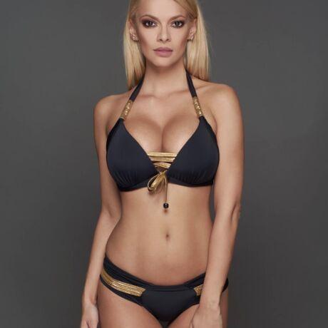 Pyramid Capri bikini - fekete-arany