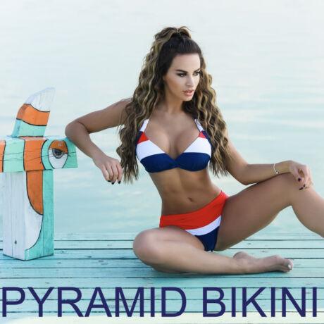 Pyramid Corse bikini - kék trikolor
