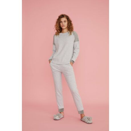 Noidinotte plüss pizsama - szürke