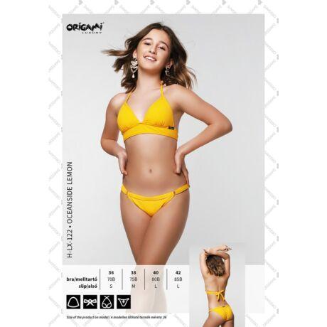 Origami Bikini 21 Oceanside Lemon háromszög bikini