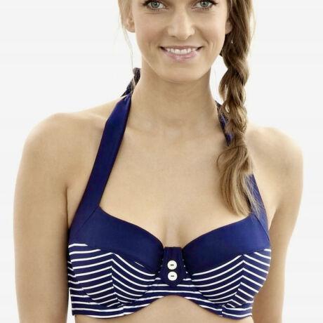 Panache Britt Stripe nyakbaakasztós bikinifelső - Navy
