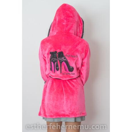 Pinki köntös - Stiletto pink-fekete