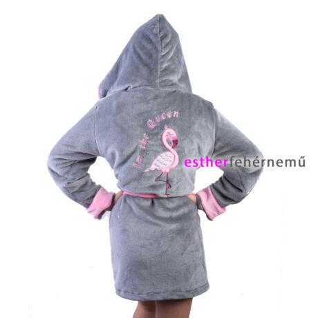 Pinki köntös - Flamingó szürke-rózsaszín