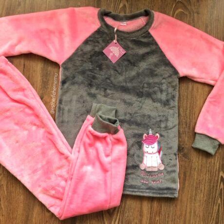 Pinki wellsoft  pizsama - Unikornis