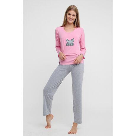 Swap pizsama - Bulldog szürke-rózsaszín