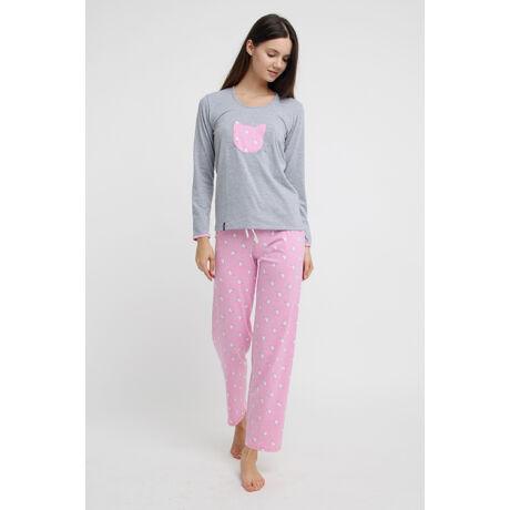 Swap pizsama - Cica szürke-rózsaszín