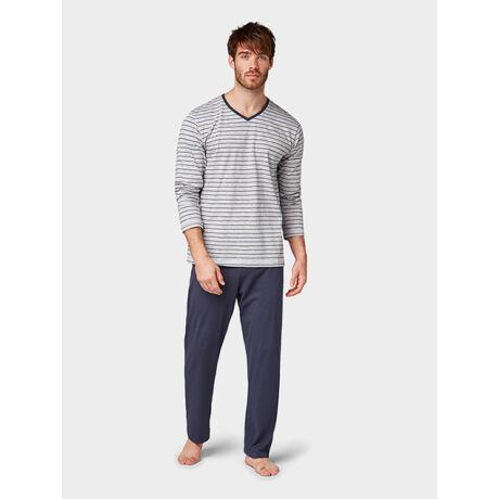 Tom Tailor férfi pizsama - világosszürke